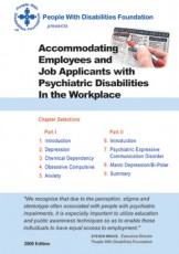 Accommodating Employees and Job Applicants with Psychiatric Disabilities in the Workplace.