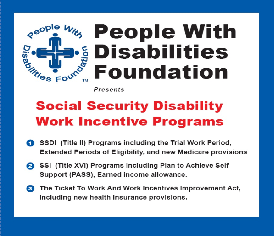 Social Security Disability Work Incentive Programs cover